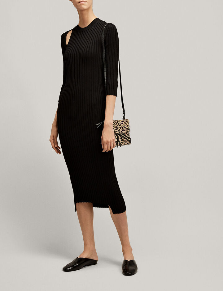 Joseph, Norma Rib Knit Dress, in BLACK