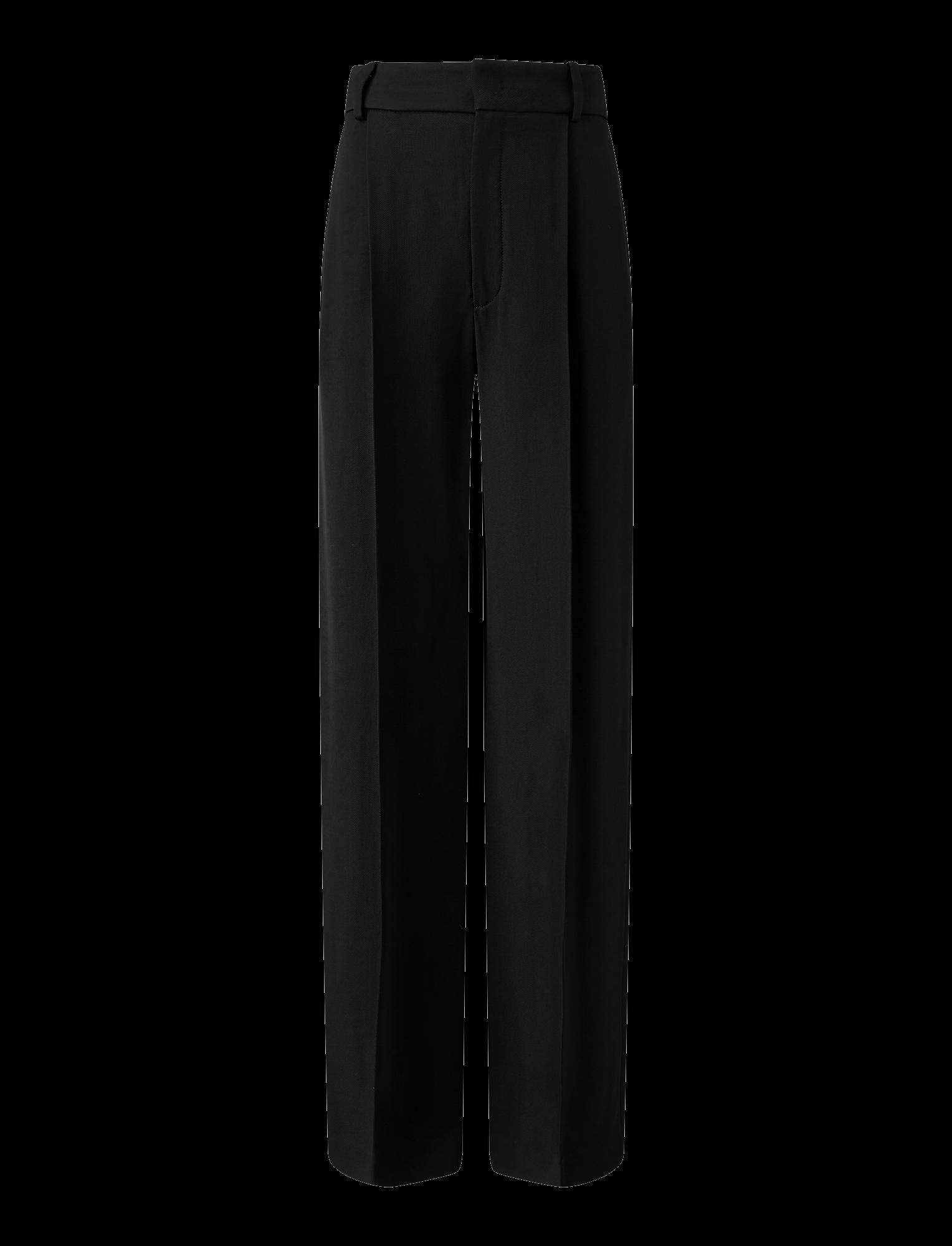 Joseph, Quarius Liquid Twill Trousers, in BLACK
