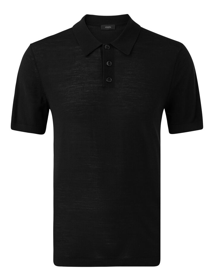 Joseph, Polo-Light Merinos, in BLACK