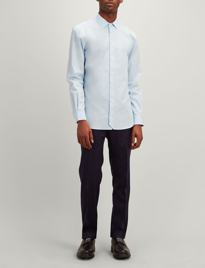 Joseph, John Poplin Shirt, in PALE BLUE
