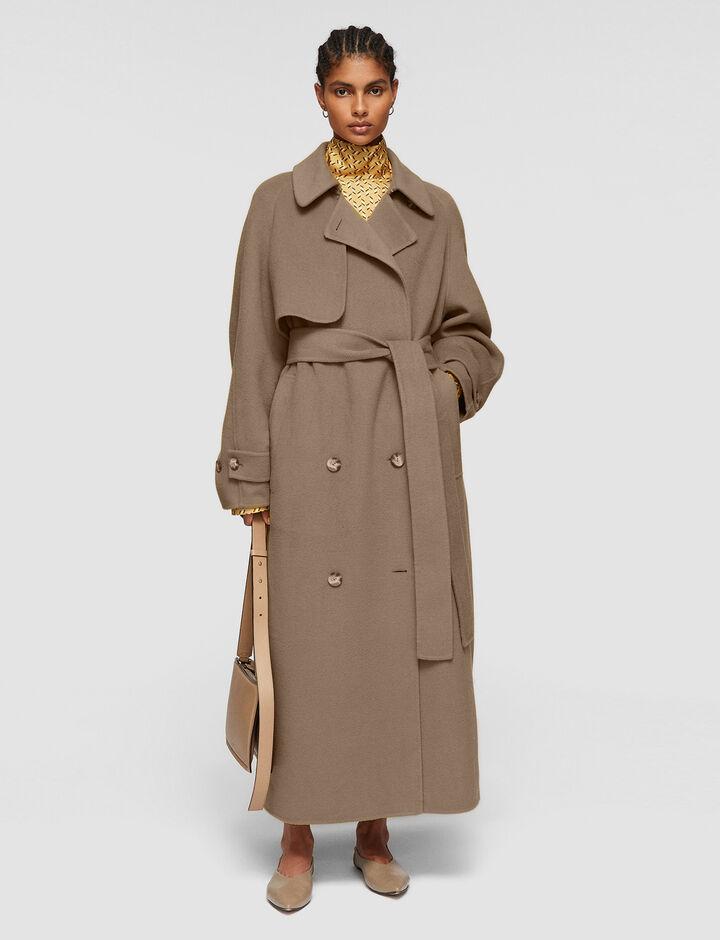 Joseph, Double Face Cashmere Colette Coat, in TAUPE