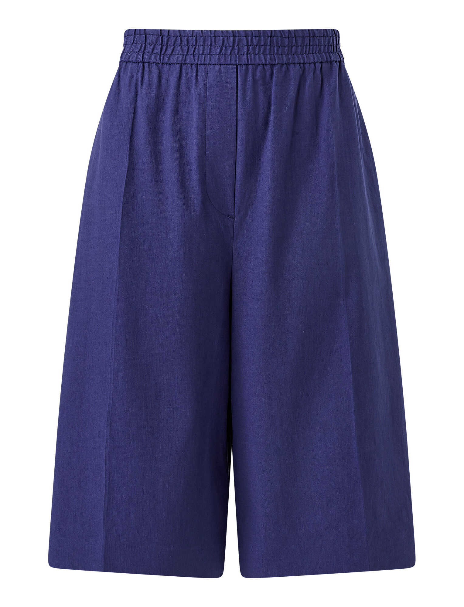 Joseph, Stretch Linen Cotton Tan Shorts, in COBALT BLUE