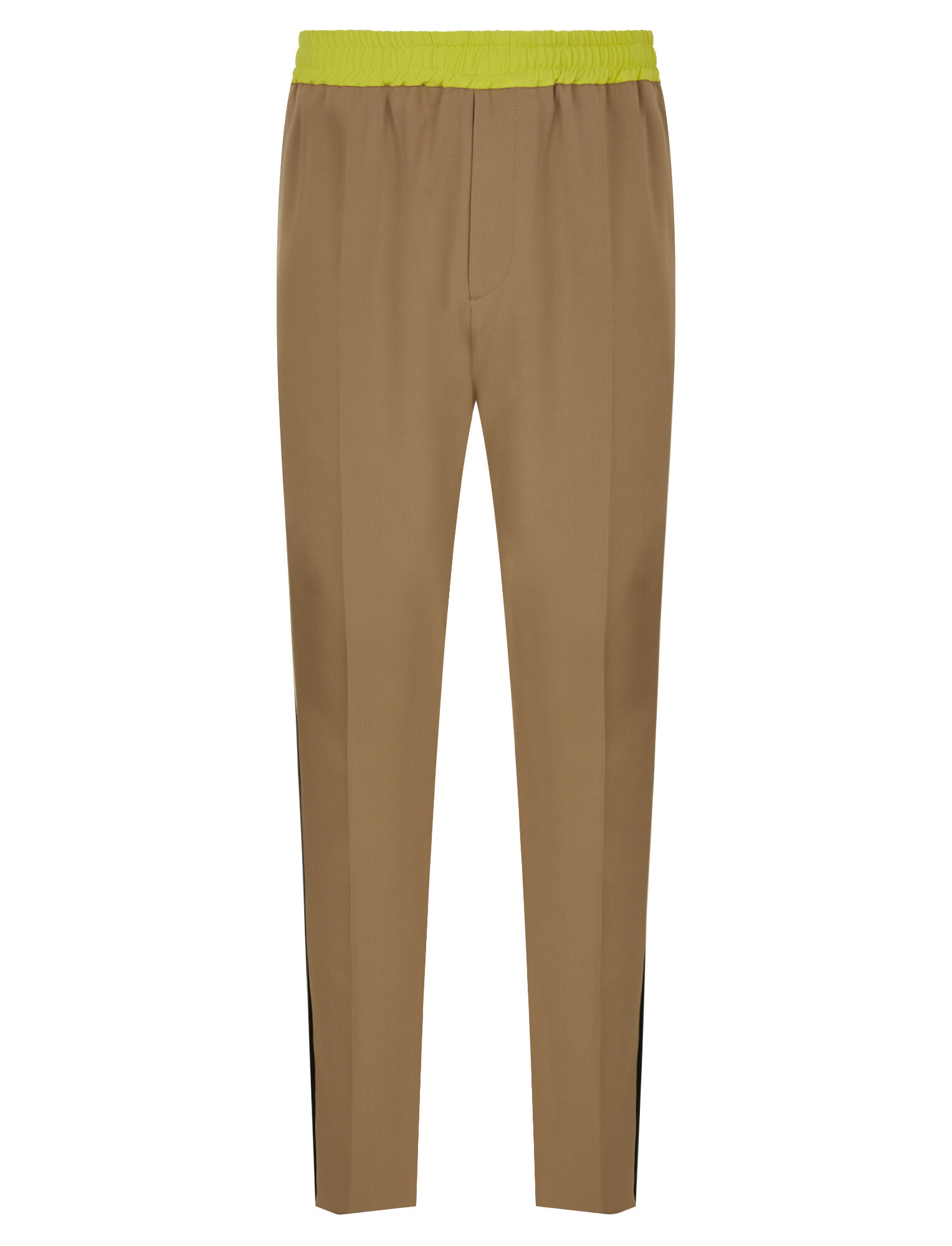 Joseph, Eza Techno Wool Stretch Tricolours Trousers, in CAMEL COMBO