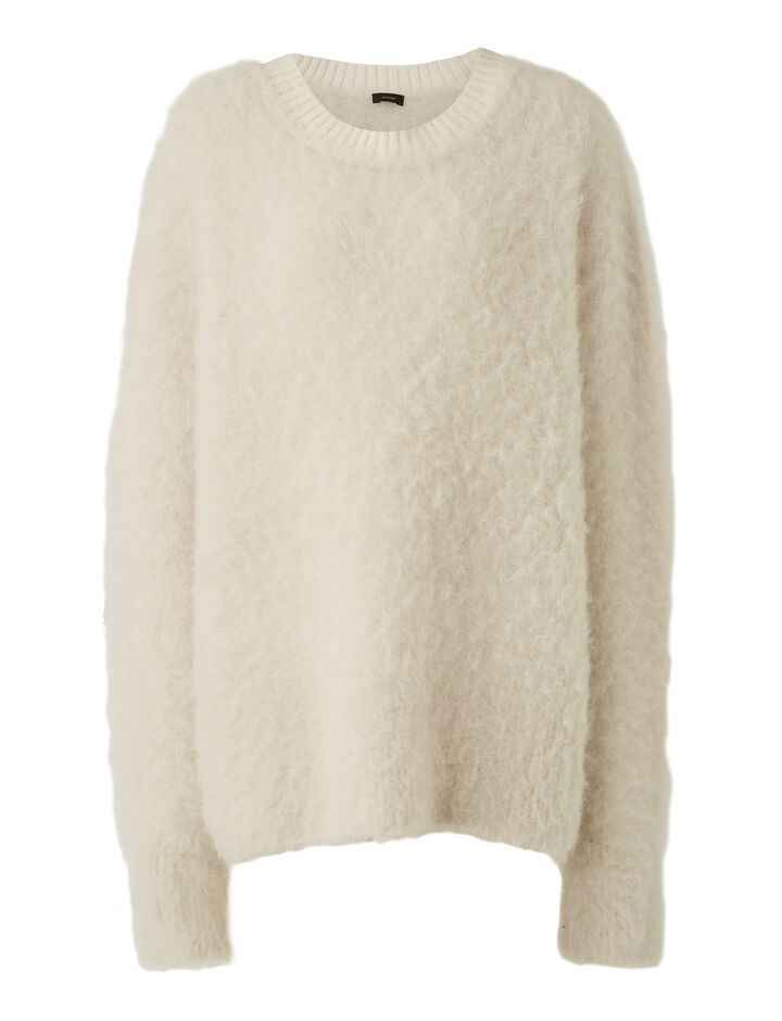 Joseph, Rd Nk Ls-Brushed Knit, in IVORY