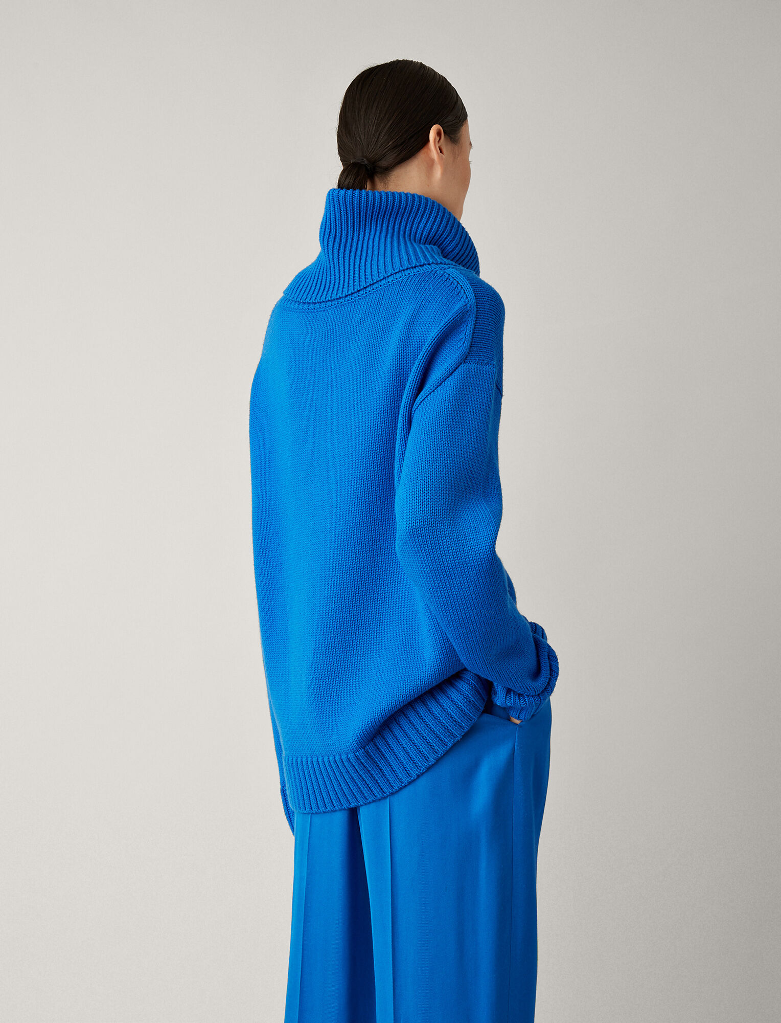 Joseph, Oversized Sloppy Joe Knit, in PLASTIC BLUE