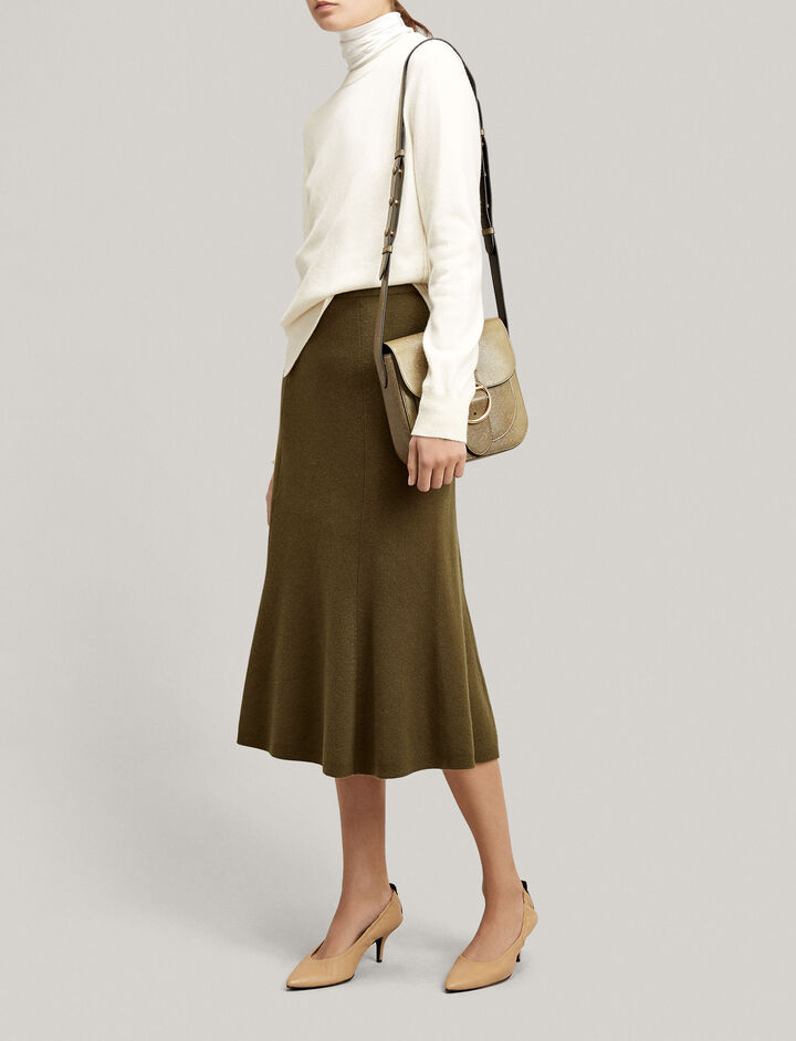 Joseph, Soft Wool Skirt, in MILITARY