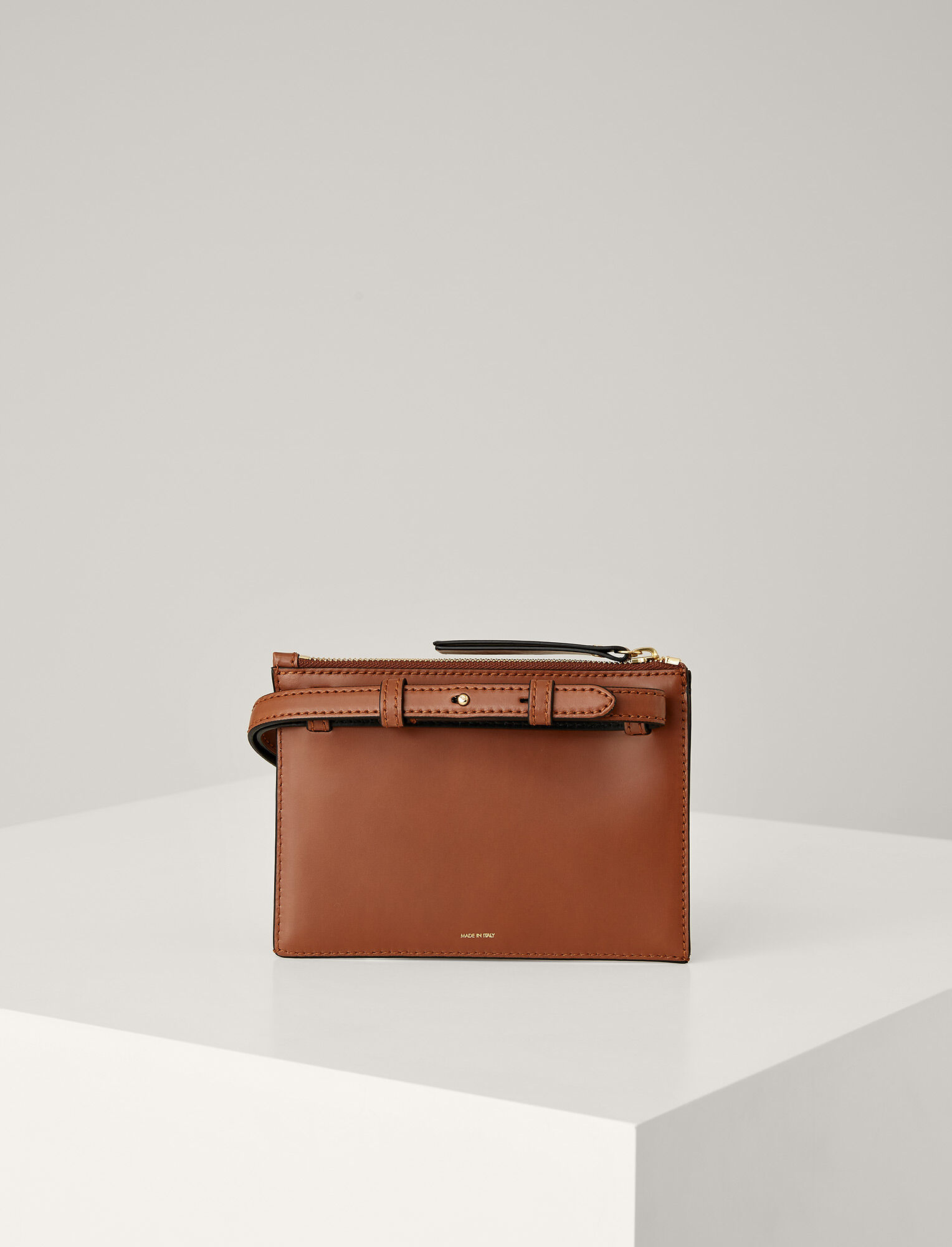 Joseph, Leather Montmartre Bag, in SADDLE