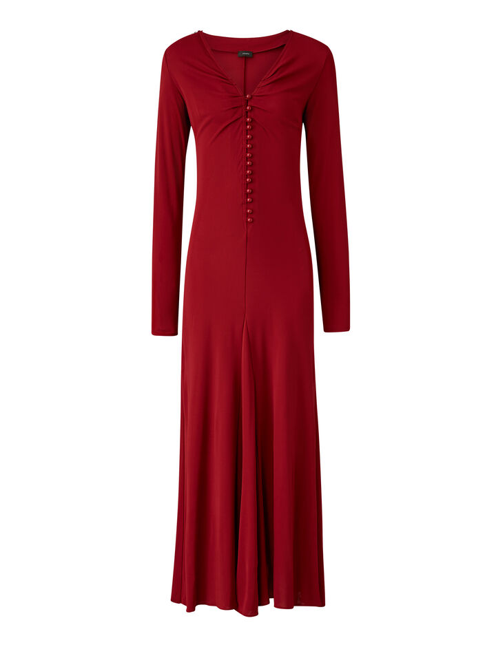 Joseph, Marlene Crepe Jersey Dress, in RUBY