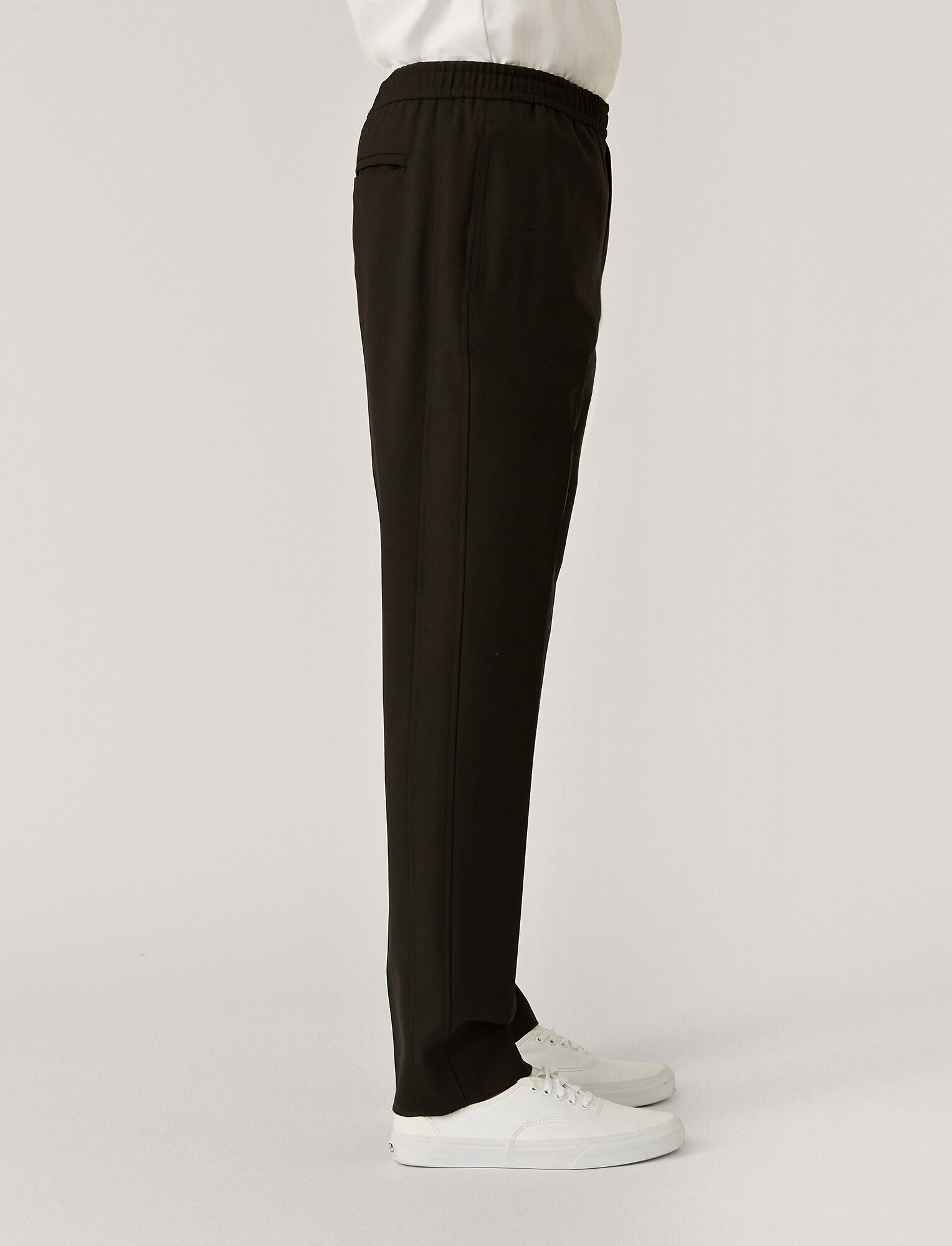 Joseph, Techno Wool Stretch Trousers, in Black