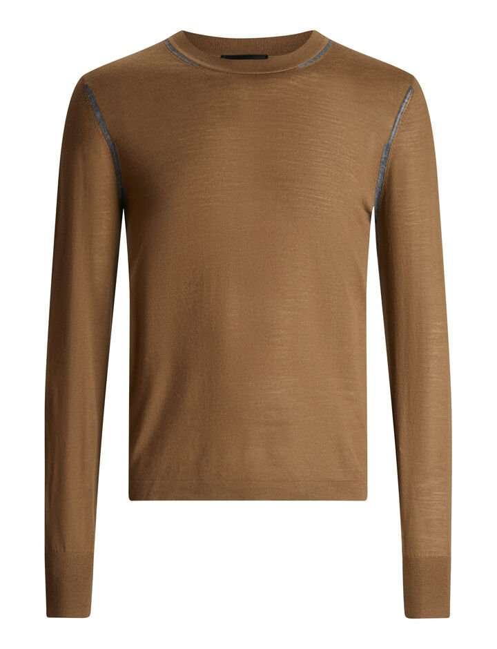 Joseph, Light Merinos Knit, in TOBACCO