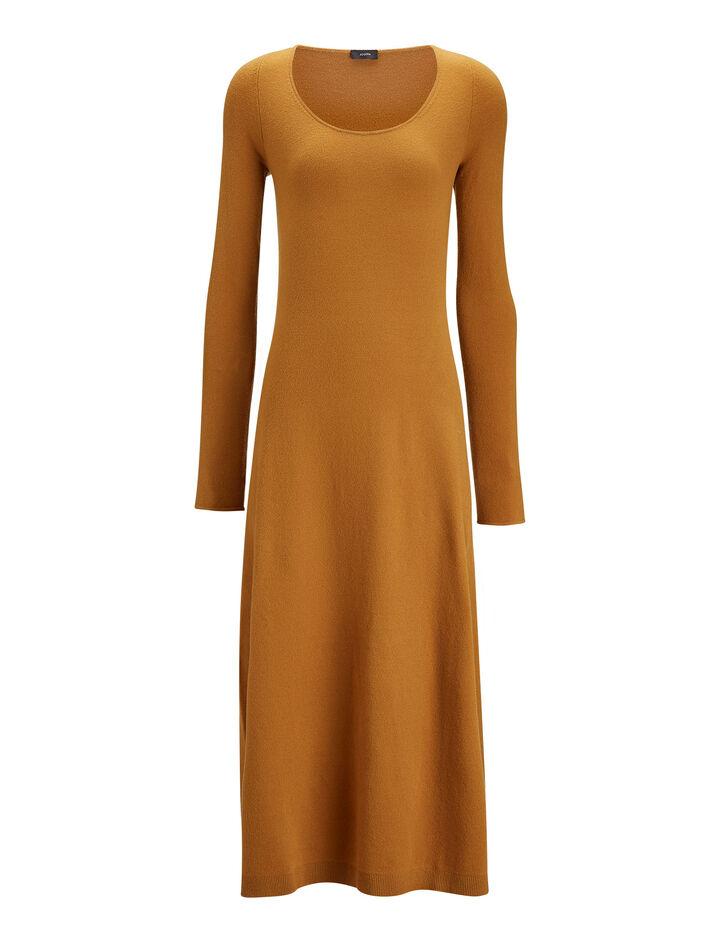 Joseph, Jahan Wool Stretch Dress, in CAMEL
