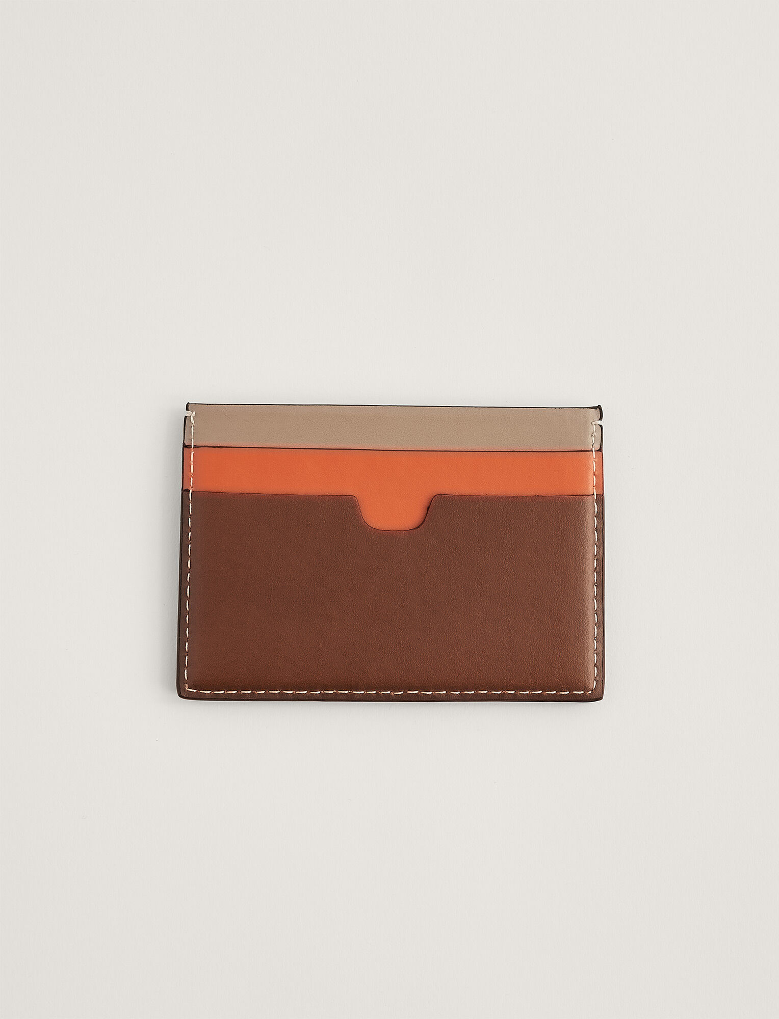 Joseph, Leather Card Holder, in MIX 3 MINK/ORANGE/TAN