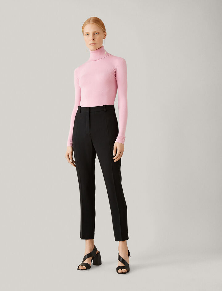 Joseph, Zoom Viscose Cady Trousers, in BLACK