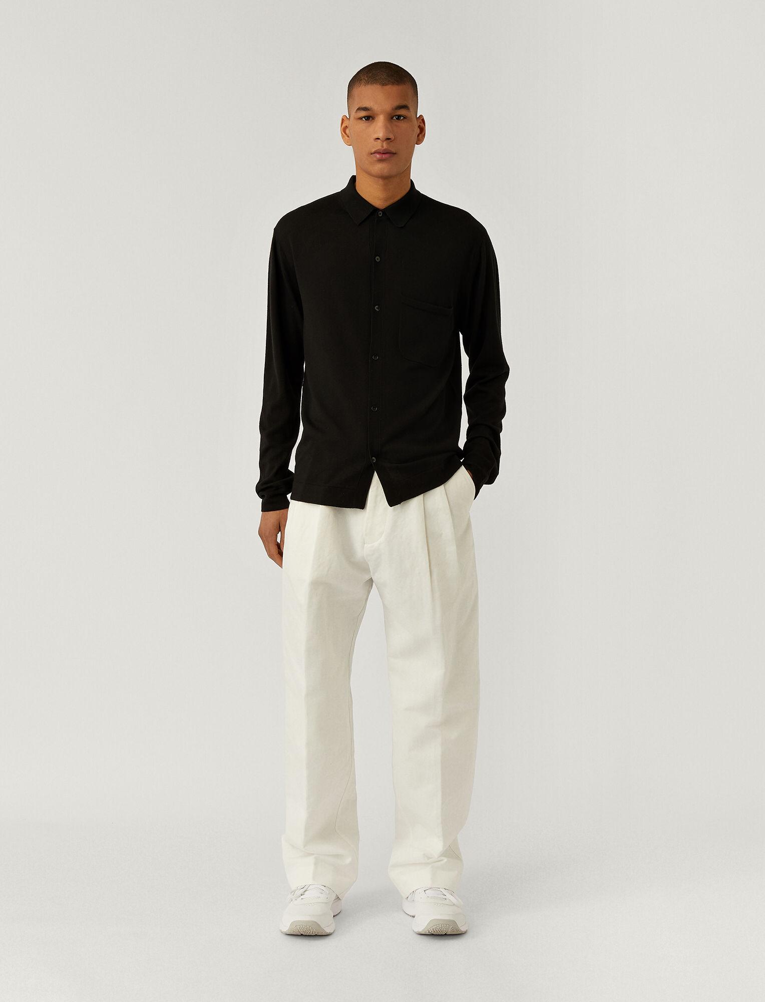 Joseph, Light Merinos Shirt, in BLACK