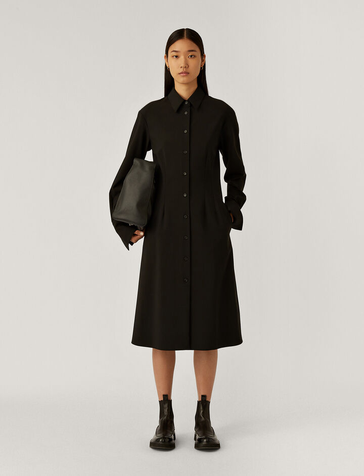 Joseph, Diling Light Wool Suiting Dresses, in Black