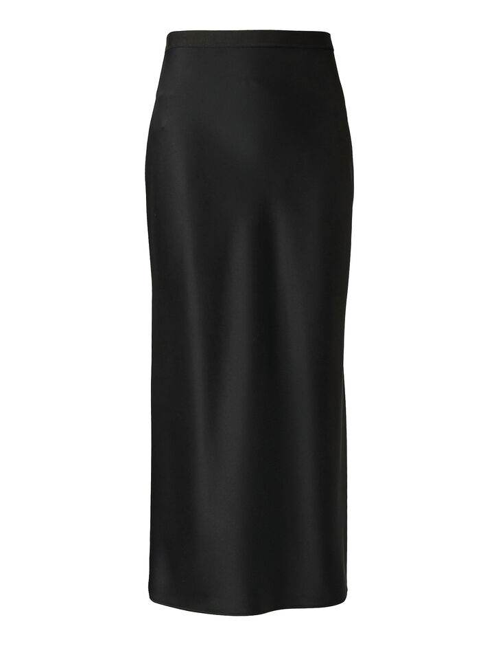 Joseph, Hurst Silk Satin Skirt, in BLACK