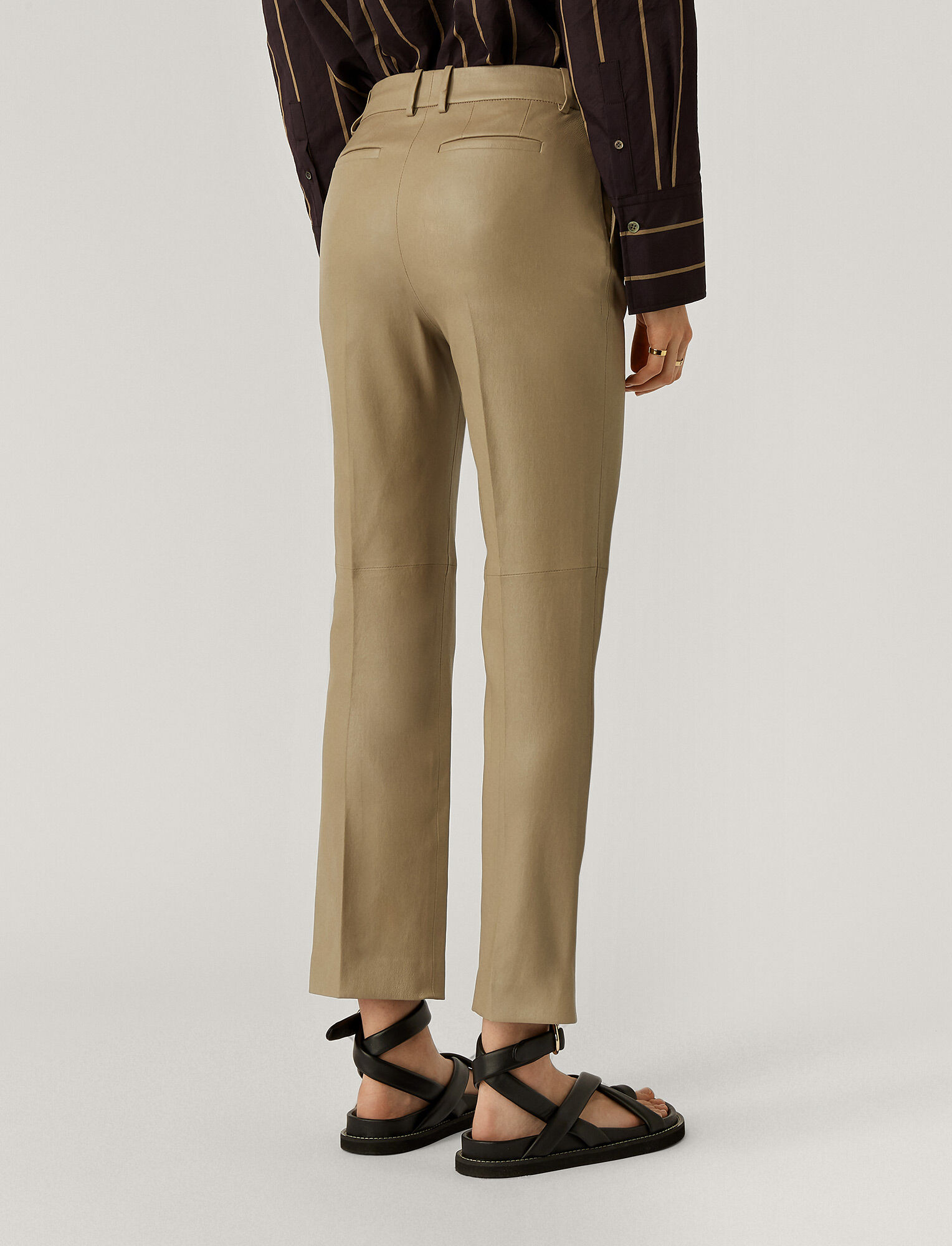 Joseph, Coleman Stretch Leather Trousers, in SAND