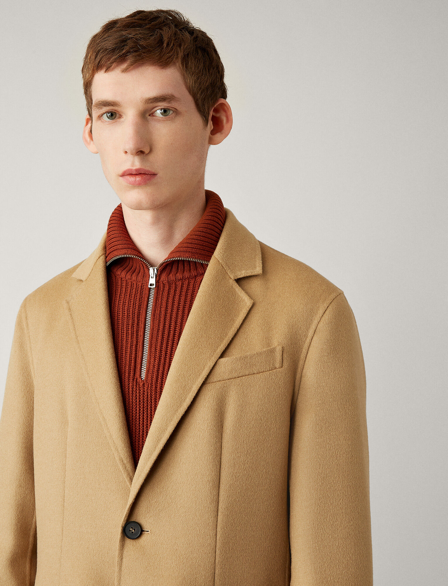 Joseph, Bernie Light Double Face Coat, in TAN