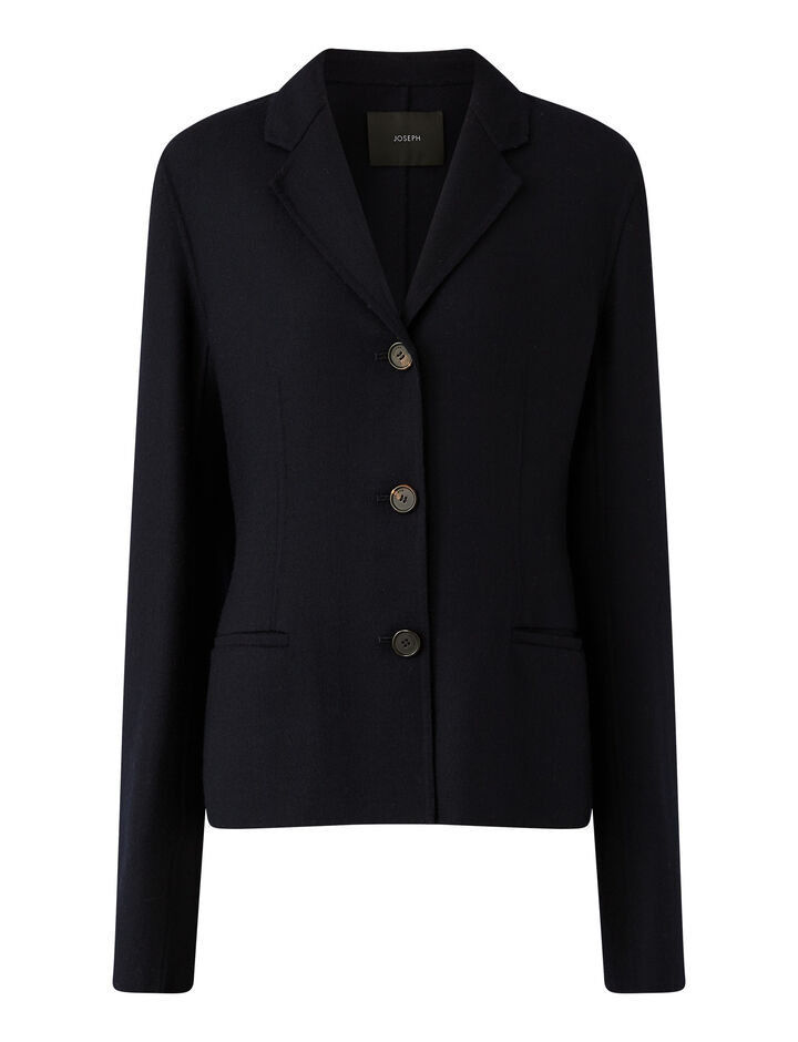 Joseph, Jiall Stretch Double Face Jackets, in Navy