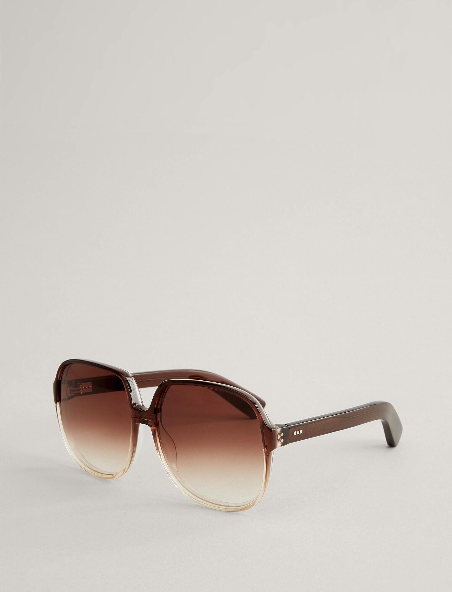 Joseph, Fulham Sunglasses, in TRANSPARENT BROWN