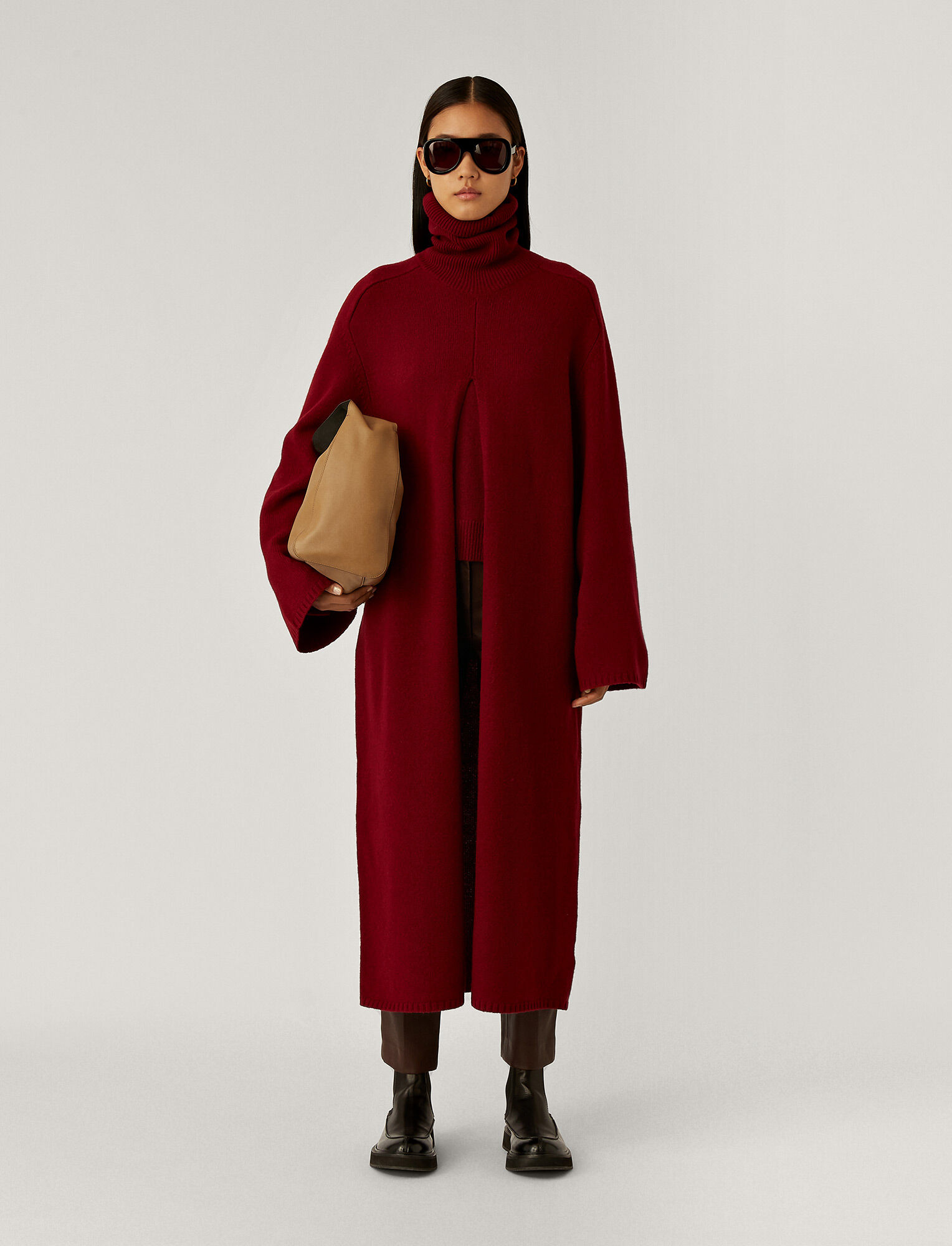 Joseph, Viviane O'Size Knit Dress, in Plum