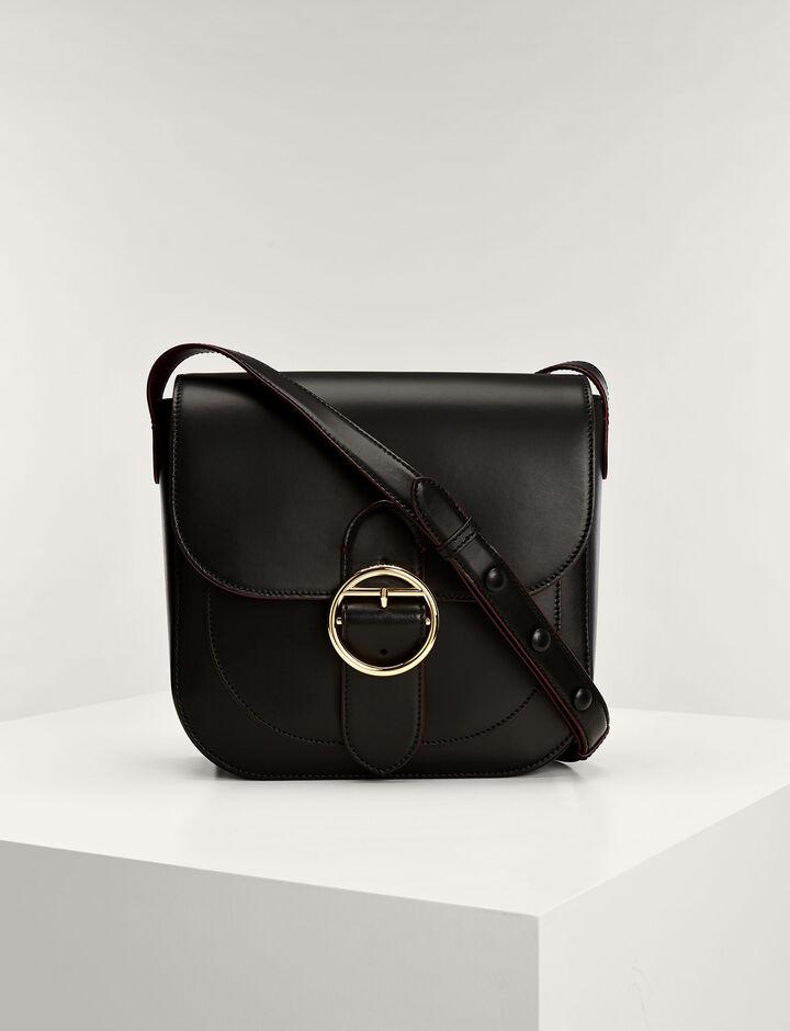 Joseph, Leather Knight Bag, in BLACK