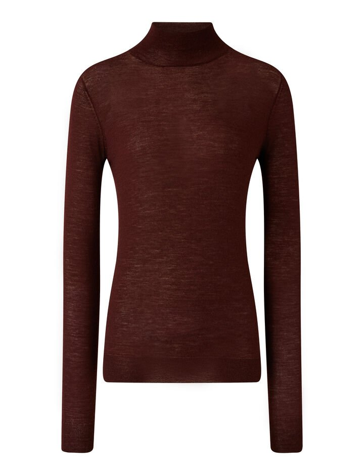 Joseph, High Nk Ls Cashair Knitwear, in Ganache