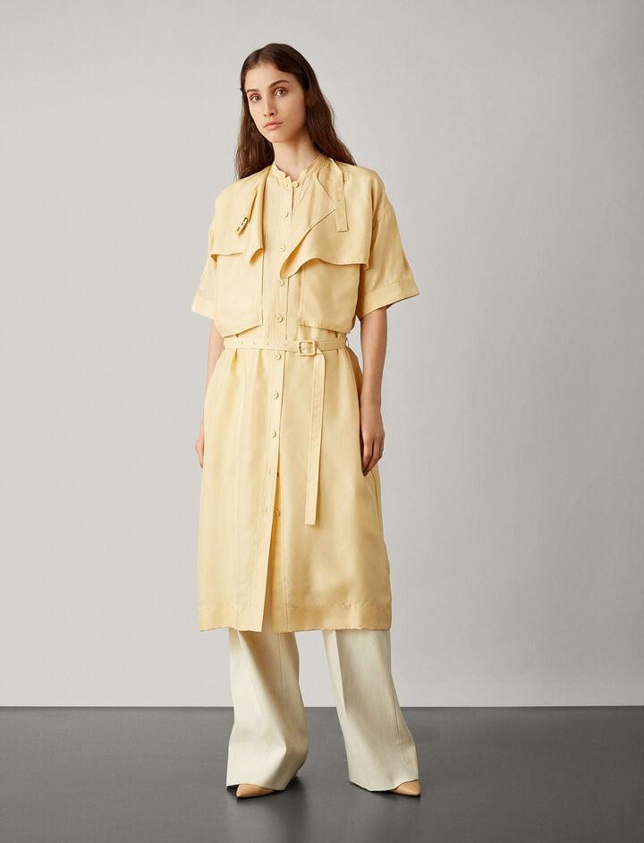 Joseph, Riley Paper Silk Dress, in BANANA