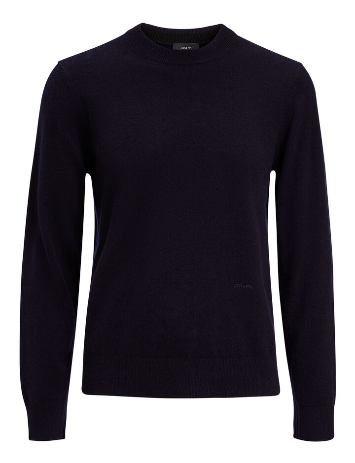 Joseph, Mongolian Cashmere Knit, in NAVY