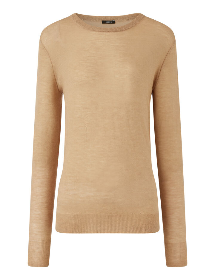 Joseph, Rd Nk Ls-Cashair, in LIGHT CAMEL