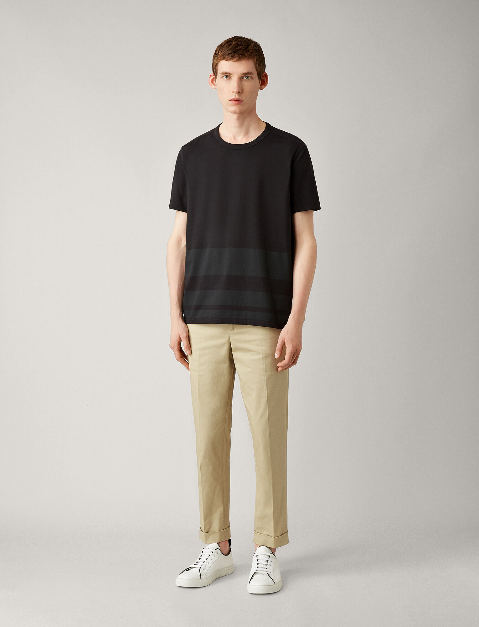 Joseph, Joseph Stripe Tee, in BLACK