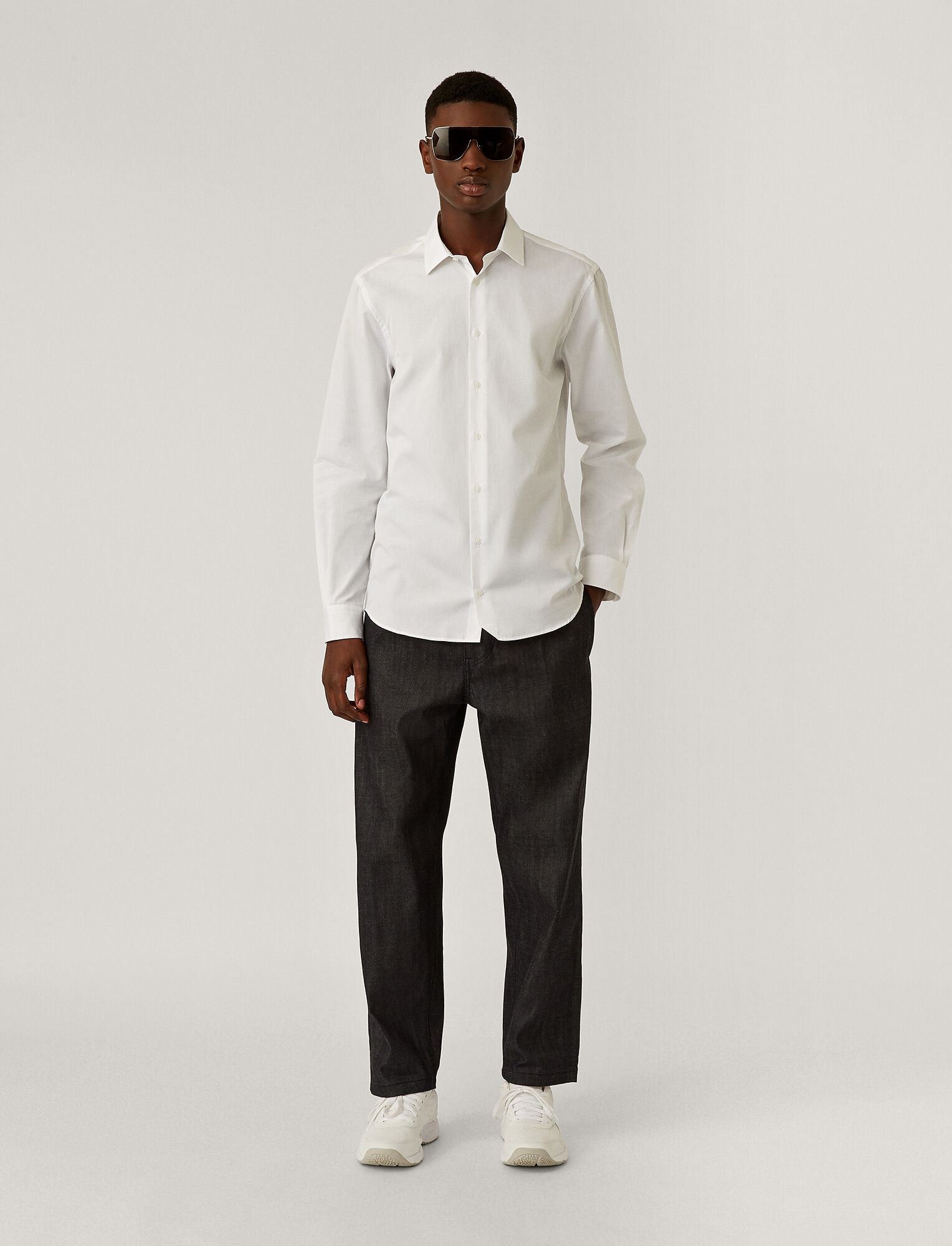 Joseph, John Poplin Shirt, in WHITE