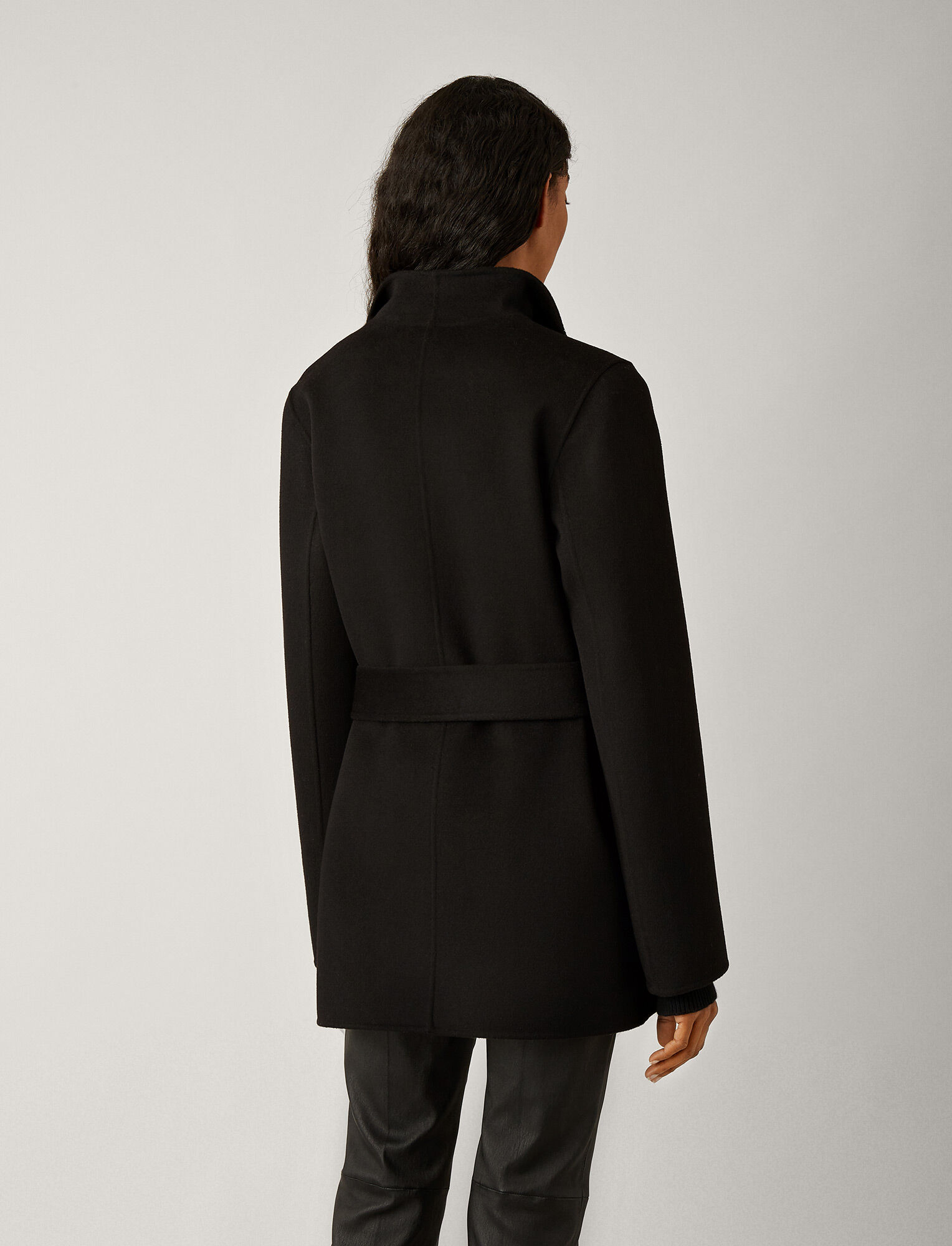Joseph, Lima Short Double Face Cashmere Coat, in BLACK