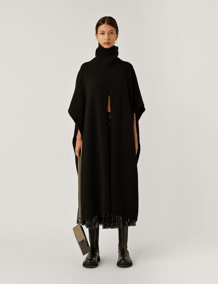 Joseph, Poncho Scarf-Pure Cashmere, in BLACK