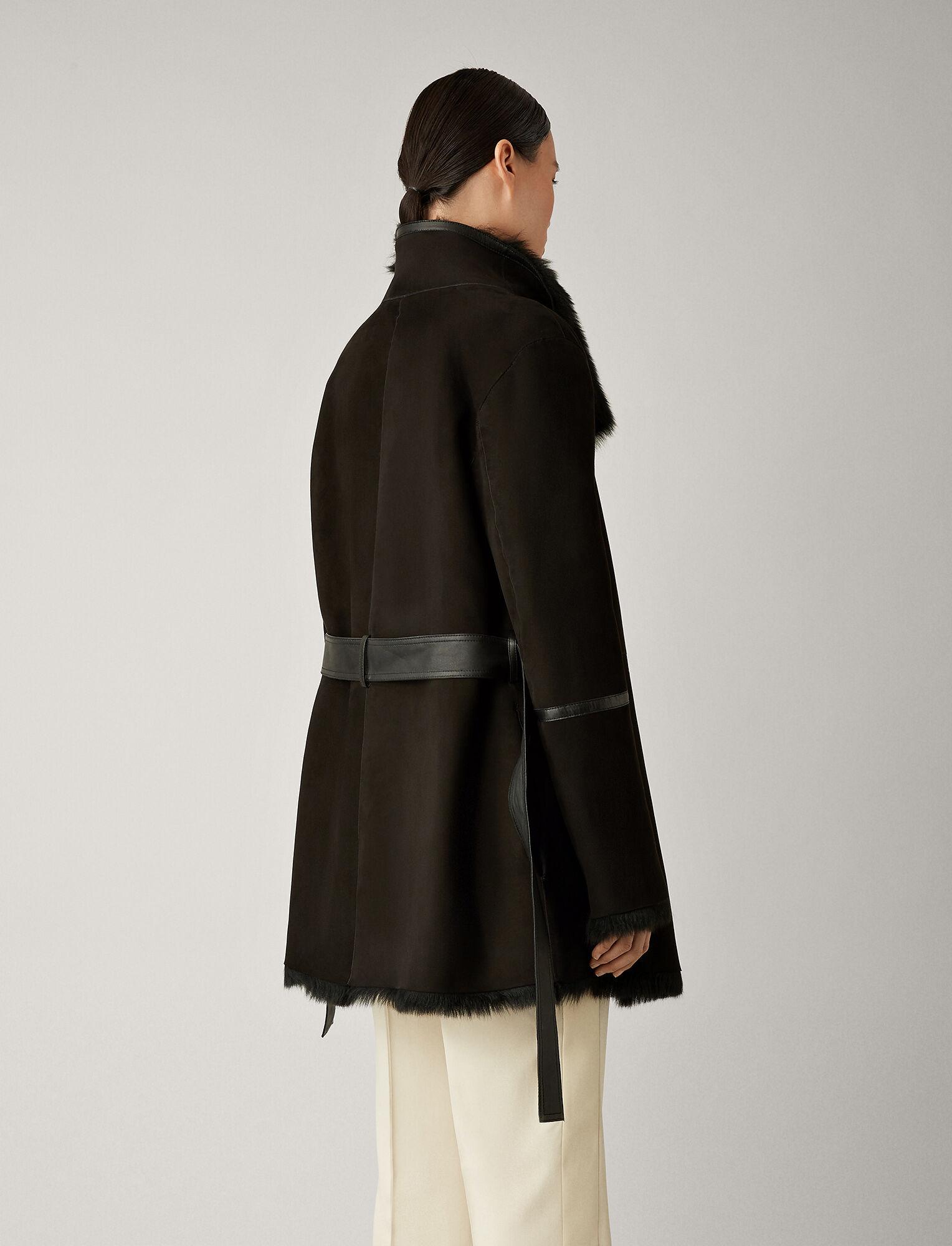 Joseph, Liman Short Soft Toscana Sheepskin, in BLACK
