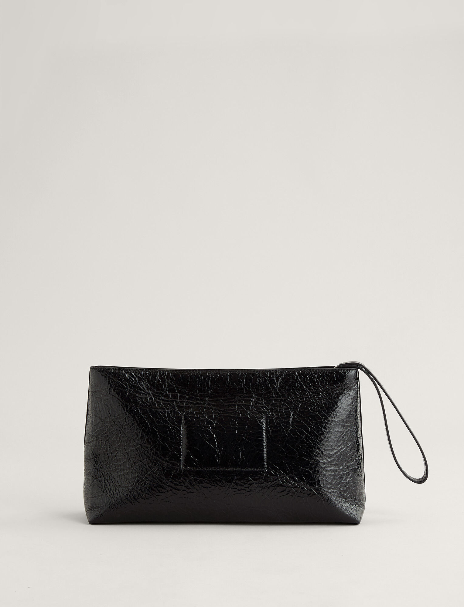 Joseph, Westbourne Clutch Leather Bag, in BLACK