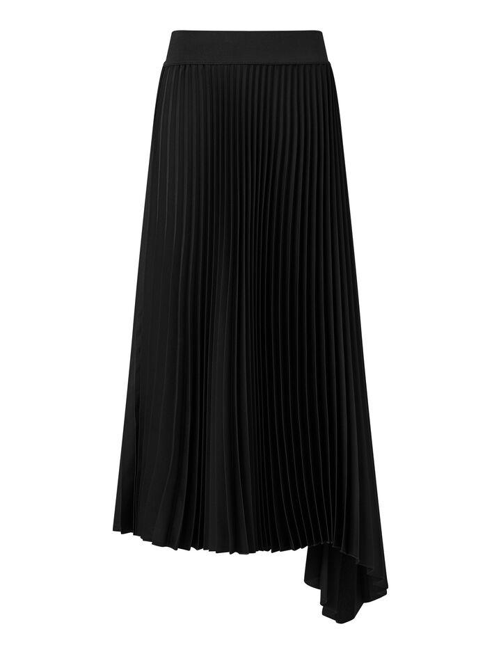 Joseph, Sabin Knit Weave Plissé Skirts, in Black