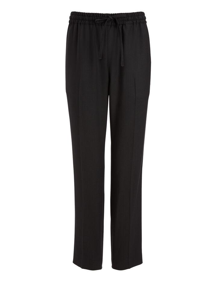Joseph, Comfort Wool Loulou Trousers, in BLACK