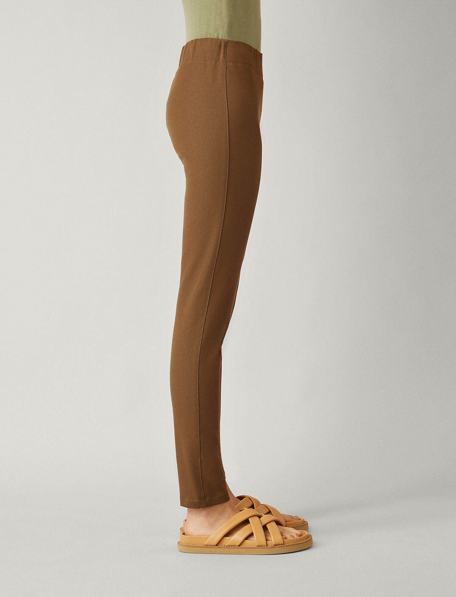 Joseph, Gabardine Stretch Leggings, in KHAKI