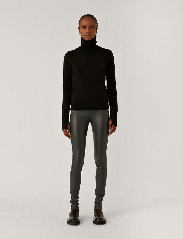Joseph, Legging-Leather Stretch, in ANTHRACITE