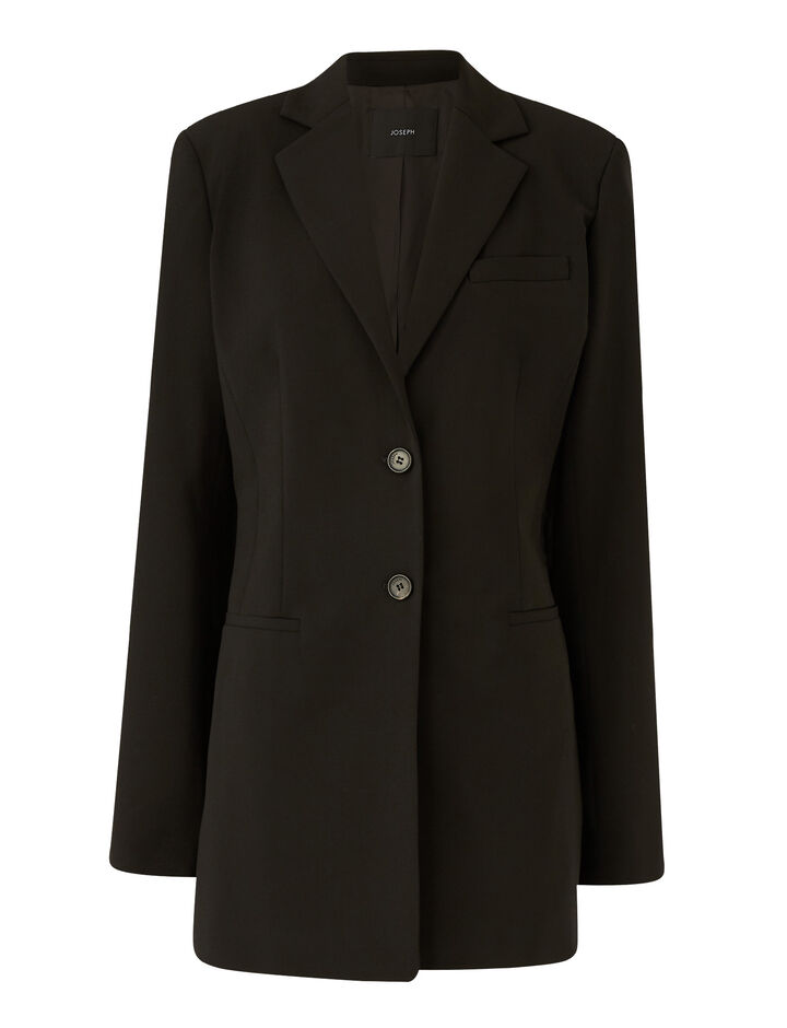 Joseph, Jani Light Wool Suiting Jackets, in Black