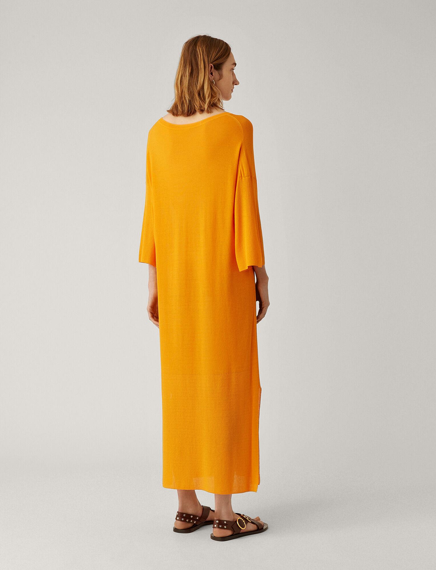 Joseph, Darline Sheer Cotton Dress, in TANGERINE