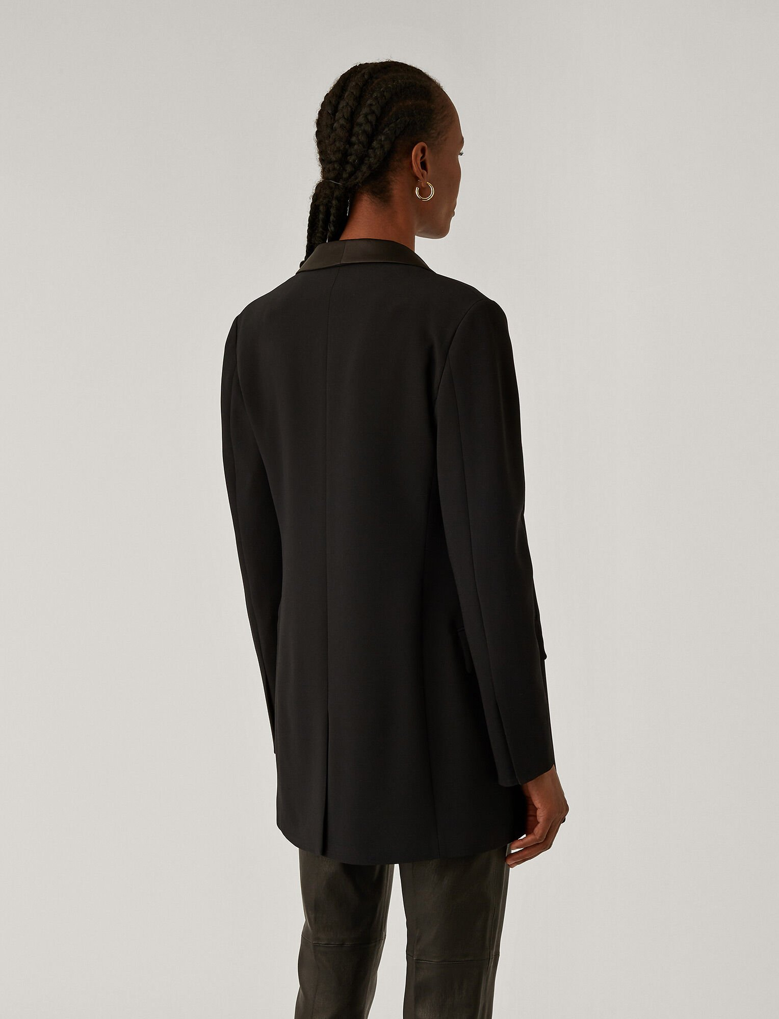 Joseph, Clapton Stretch Cady Jacket, in BLACK