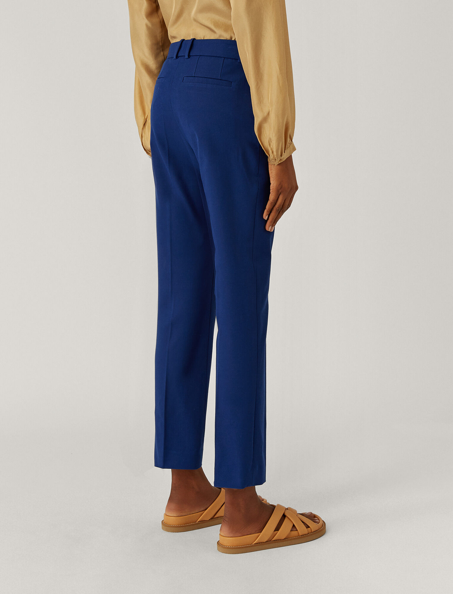Joseph, Coleman Gabardine Stretch Trousers, in KLEIN