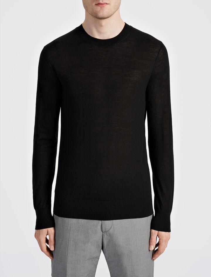 Joseph, Light Merinos Sweater, in BLACK