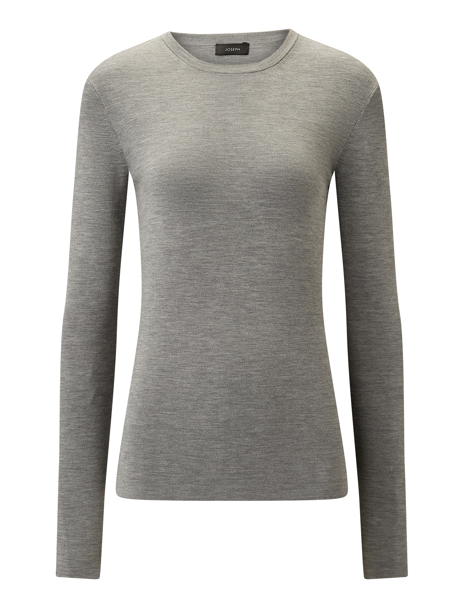 Joseph, Silk Stretch Knit, in GREY CHINE