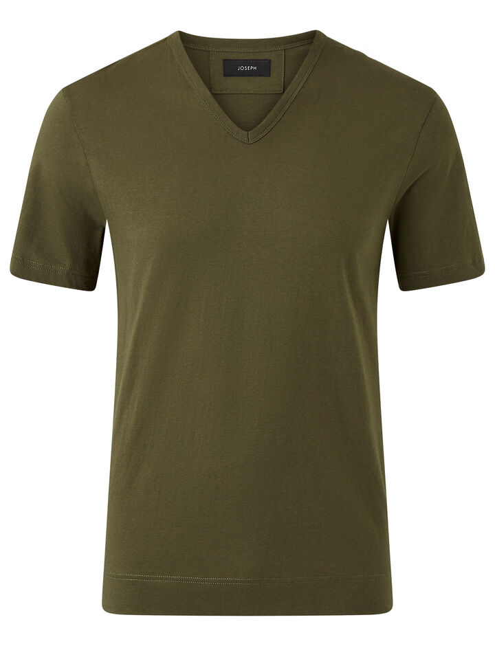 Joseph, V Nk Ss-Mercerized Jersey, in MILITARY
