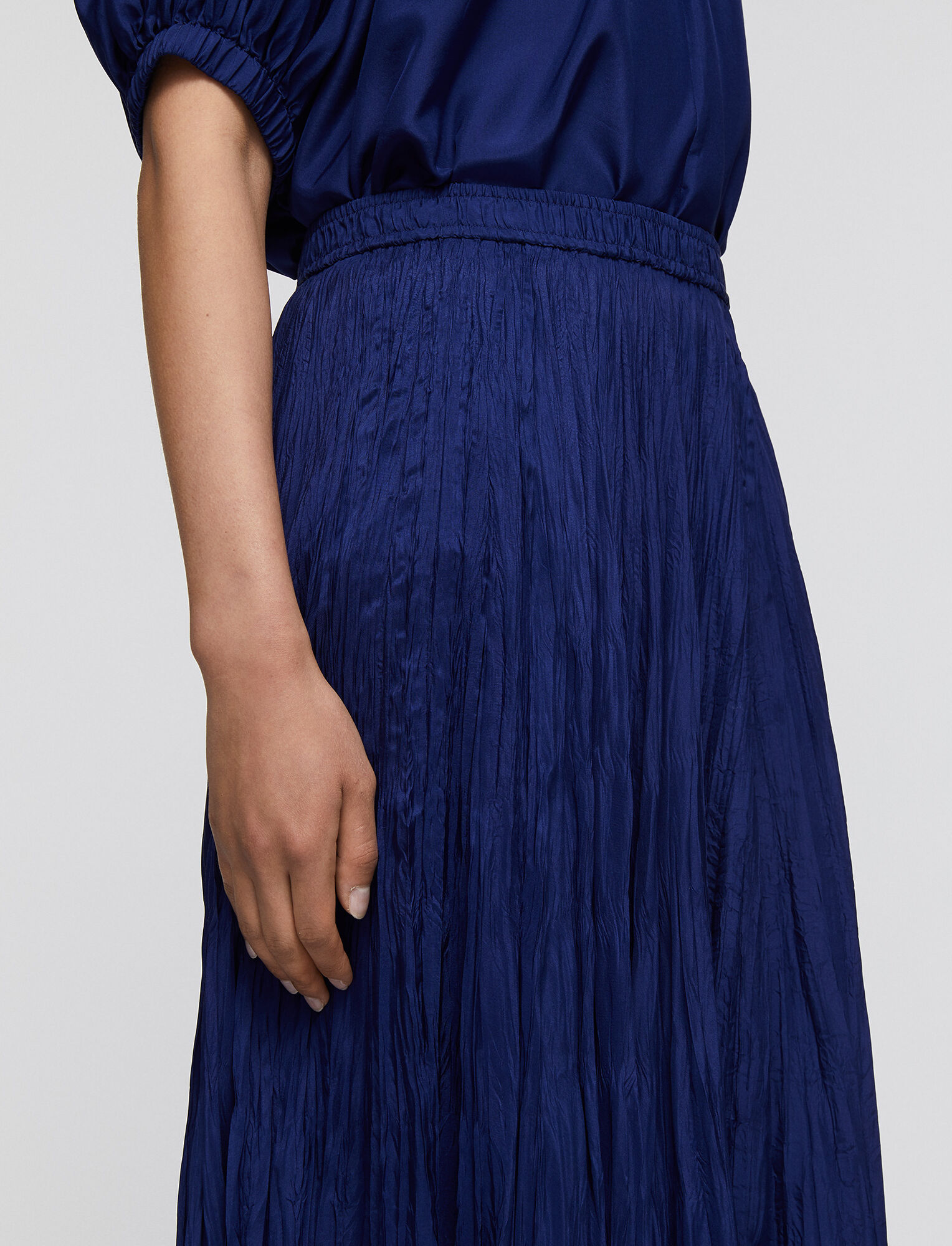 Joseph, Habotai Sully Skirt, in COBALT BLUE