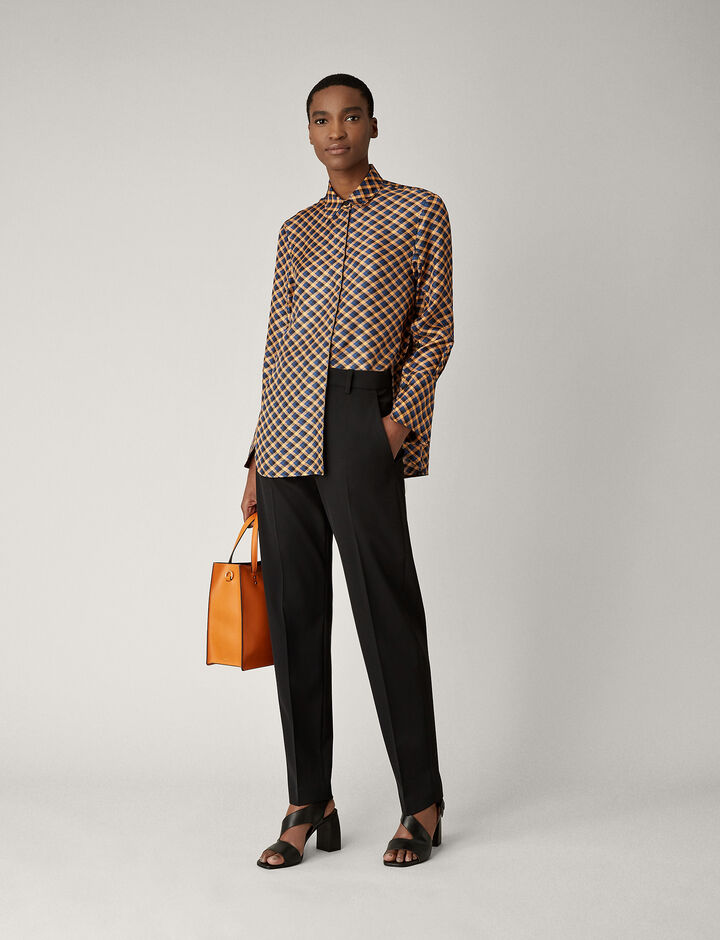 Joseph, Mason Diamond Weave Print Blouse, in PEACH