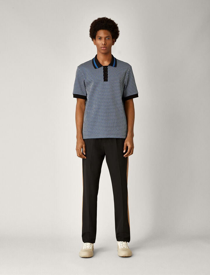 Joseph, Polo Oversize Textured Jersey, in CEAN